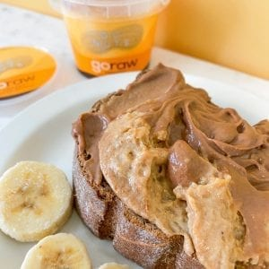 PB Choc Loaded Sweet Toast from our blog
